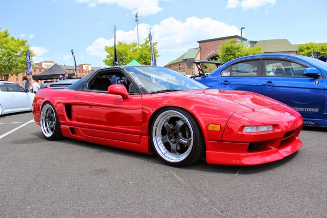 Clean Red Nsx On Work SSR Rims