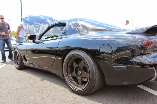 Mazda Rx-7 Three Quarters Shot with Wide Rims