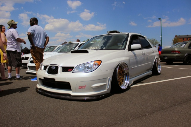 Stanced Subaru STI looks very Clean