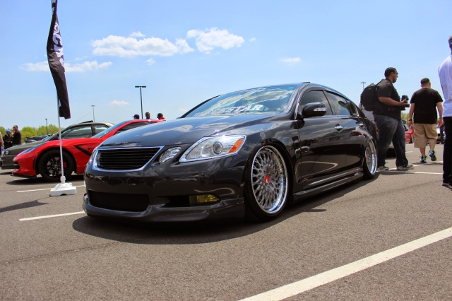 Stanced Lexus GS350 exemplifying VIP
