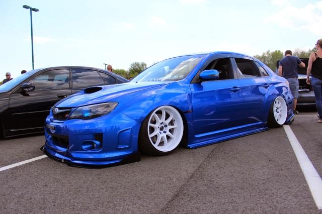 Subaru Impreza Sti Bagged Sitting On The Ground